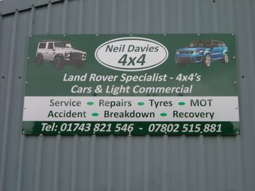 neil davies 4x4 garage sign